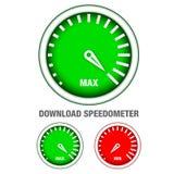 De snelheidsmeter van de download Royalty-vrije Stock Foto's