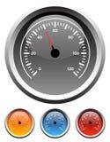 De snelheidsmetermaten van het dashboard Stock Afbeeldingen