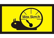 De snelheidsmetermaximum snelheid van de slak Stock Fotografie