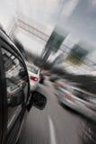 De snelle aandrijving van de auto royalty-vrije stock afbeelding