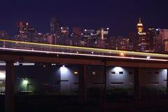 De Snelle Doorgang van Vancouver Skytrain Stock Foto's