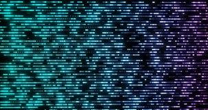De snelle Horizontale Bewegende Blauwe Vage Lichten van de Gegevensstroom het Kunstmatige intelligentietechnologie royalty-vrije illustratie