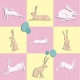 De snelle konijnen van Pasen Stock Foto