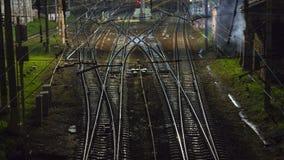 de snelle motie van de spoorwegtrein stock footage