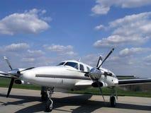 De snelle Vliegtuigen van de Schroefturbine stock afbeelding