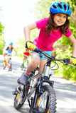 De snelste fietser Stock Foto's