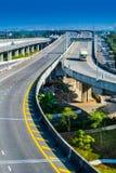 De snelweg is leeg Stock Foto