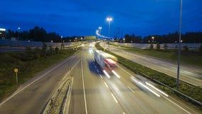 De snelweg van de nacht Royalty-vrije Stock Foto's