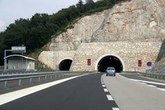 De snelweg van de tunnel Stock Foto's