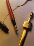 De snijder van de pen en document Royalty-vrije Stock Afbeeldingen