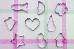 De snijders van koekjes stock afbeelding