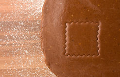 De snijdersvierkant van het koekje Royalty-vrije Stock Afbeelding