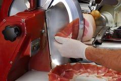 De snijmachine van de ham stock afbeelding