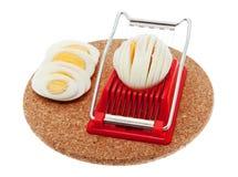 De snijmachine van het ei stock afbeelding