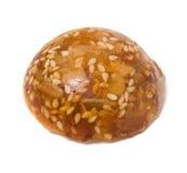 De snoepjes van de karamel met zonnebloemzaden Stock Afbeeldingen