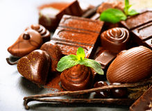 De snoepjes van de pralinechocolade Royalty-vrije Stock Foto's