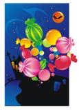 De snoepjes van Halloween Stock Afbeeldingen
