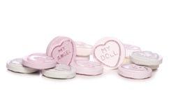 De snoepjes van het liefdehart stock afbeelding
