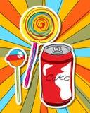 De snoepjes van het pop-art Stock Afbeelding