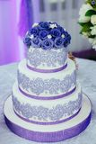 De snoepjes worden gediend voor de huwelijkslijst stock afbeeldingen