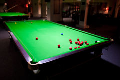 De snookerlijst stock afbeelding