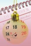 De snuisterij en de kalender van Kerstmis Stock Afbeelding