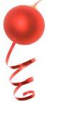 De snuisterij van Kerstmis en dansend lint Stock Fotografie