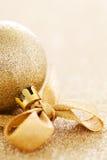 De snuisterij van Kerstmis met lint Royalty-vrije Stock Fotografie