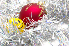 De snuisterijen en de glimlach van Kerstmis Royalty-vrije Stock Foto