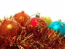 De snuisterijen en het klatergoud van Kerstmis Stock Foto