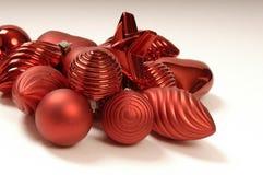De snuisterijen van de kerstboom Stock Foto's