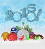 De snuisterijen van de Kerstmisbal Stock Foto's