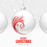De snuisterijen van Kerstmis met rood decor vector illustratie