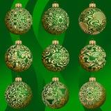 De snuisterijinzameling van Kerstmis Stock Illustratie