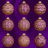 De snuisterijinzameling van Kerstmis Royalty-vrije Illustratie