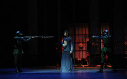 De snuit de richten-vierde handeling van de gebeurtenissen van dans drama-Shawan van het verleden royalty-vrije stock afbeeldingen