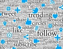 De sociale Achtergrond van het Voorzien van een netwerk Royalty-vrije Stock Afbeelding