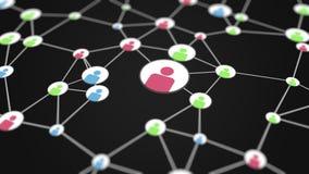De sociale activiteit van netwerkgebruikers vector illustratie