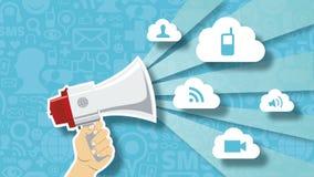 De sociale animatie van het de technologieconcept van de netwerkmarkt vector illustratie