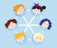 De sociale groep van het netwerk Stock Afbeelding