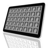 De sociale Groep van het Netwerk de Computers van de Tablet Royalty-vrije Stock Afbeelding