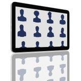 De sociale Groep van het Netwerk de Computers van de Tablet stock illustratie