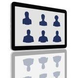 De sociale Groep van het Netwerk de Computers van de Tablet vector illustratie