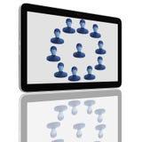 De sociale Groep van het Netwerk de Computers van de Tablet royalty-vrije illustratie