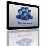 De sociale Groep van het Netwerk de Computers van de Tablet Stock Afbeelding