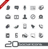 De sociale Grondbeginselen van // van Pictogrammen Stock Fotografie