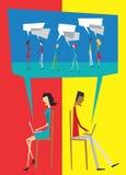 De sociale interactie van de toespraak vector illustratie