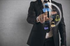 De sociale Interface van het Netwerk stock foto