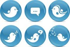 De sociale knopen van het netwerkpictogram Stock Foto's