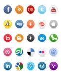 De sociale Knopen van Media Royalty-vrije Stock Fotografie